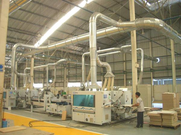 hệ thống xử lý khí thải bụi gỗ