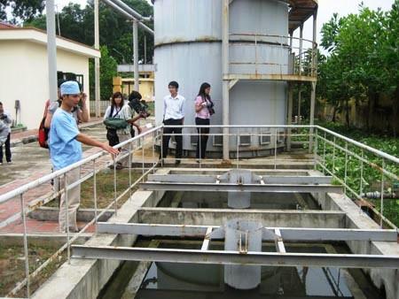 Bể xử lý nước thải bệnh viện