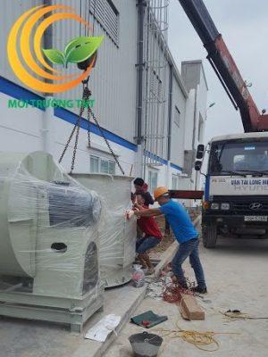 Xử lý khí thải in tại KCN Quế Võ - Bắc Ninh