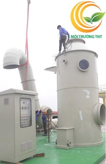 Lắp đặt hệ thống xử lý khí thải tại KCN Yên Phong Bắc Ninh