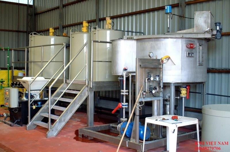 Bể xử lý nước thải bằng keo tụ tạo bông