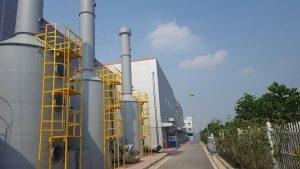 Tháp hấp thụ khí thải