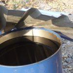 Thùng phi chứa dầu thải