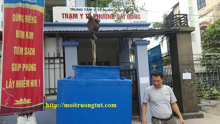 Bể xử lý nước thải Trạm y tế phường Sài Đồng - Long Biên