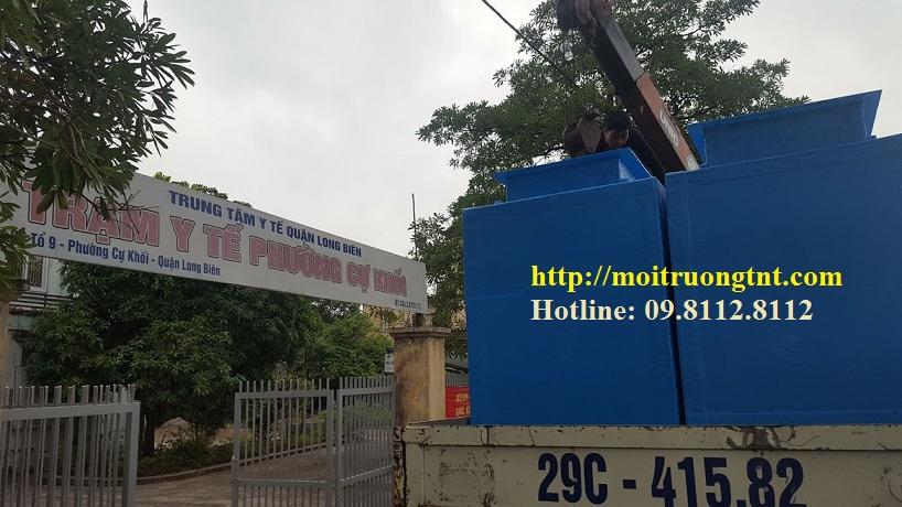Bể xử lý nước thải trạm Y tế Cự Khối - Long Biên