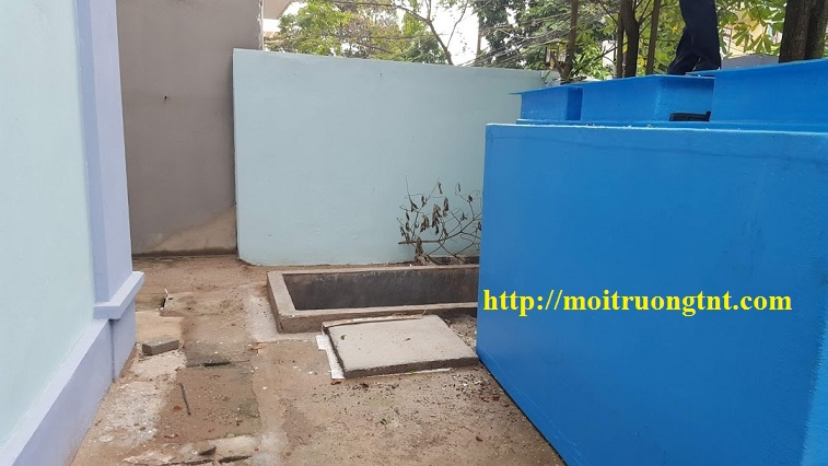 Bể xử lý nước thải trạm Y tế Giang Biên - Long Biên