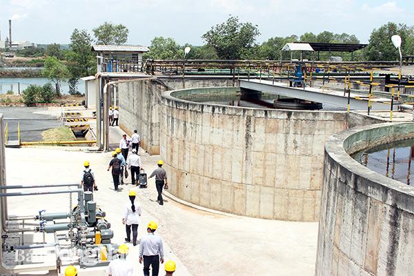 Khu xử lý nước thải có lắp đặt hệ thống quan trắc tự động